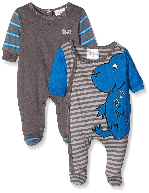 Pijama para beb/és Twins Schlafstrampler Dino paquete de 2 unidades