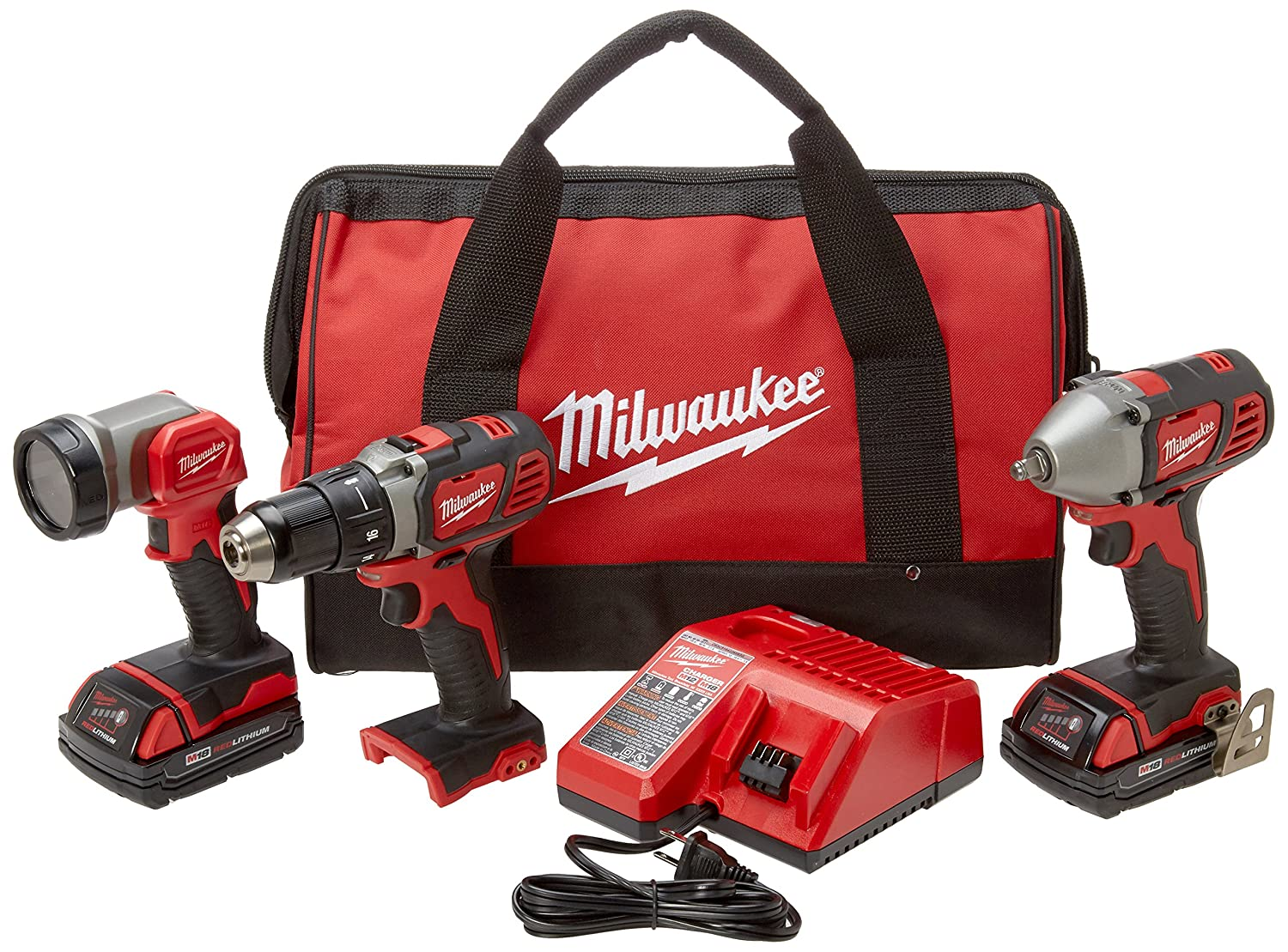 Milwaukee 2691-23 18-Volt Compact Drill and Impact Driver Combo Kit W-MLW2691-23