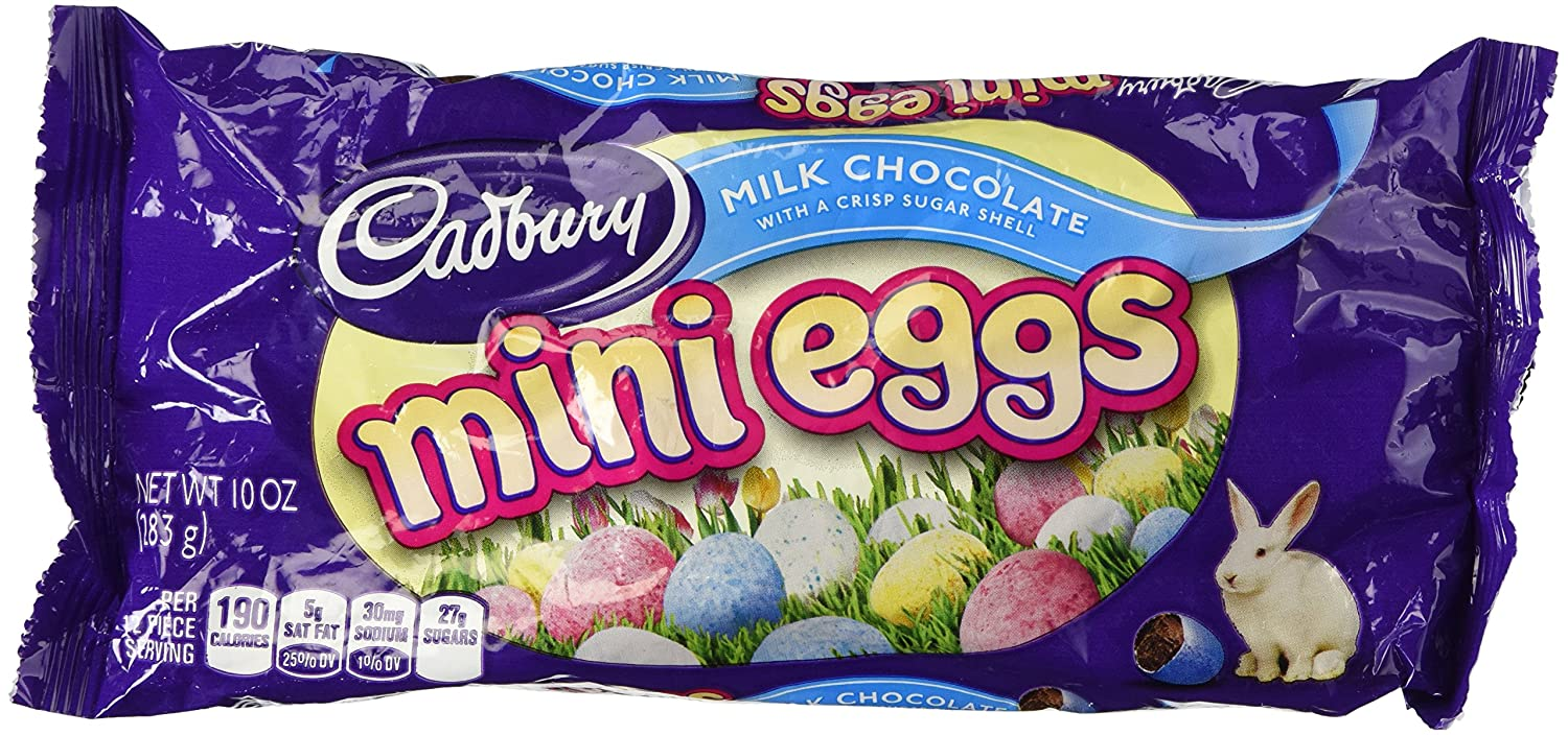 Amazon.com : Cadbury Easter Candy Coated Mini Eggs (Milk Chocolate ...