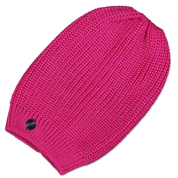 adidas Perfor  ance da donna Eat 3S Beanie lungo cappello invernale fatto a  maglia rosa Rosa Shocking Pink  Amazon.it  Abbigliamento 30727affe151
