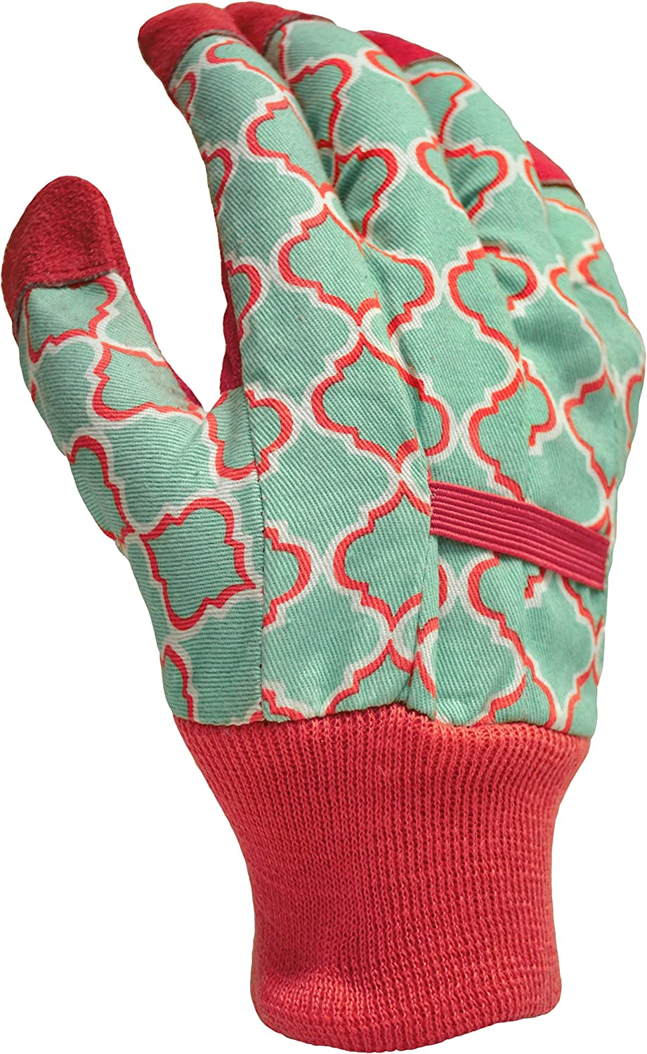 DIGZ Leather Palm Garden Gloves with Knit Wrist, Small
