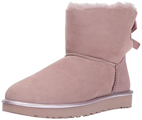 Bootss UGG Mini Bailey Bow Metallic II 36 Pink