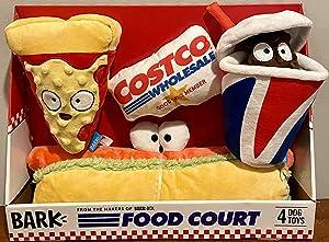 Bark Costco Food Court Dog Toy - 4 Toys - Pizza, Hot Dog, Soda, Member Card