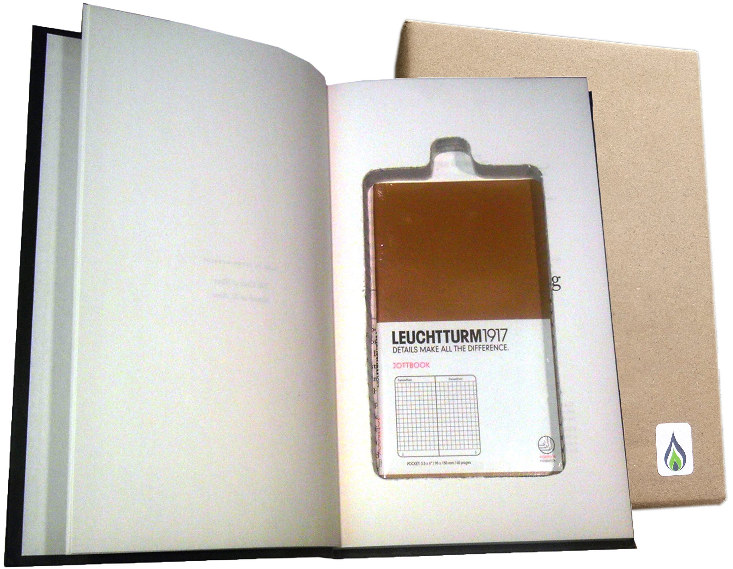 SneakyBooks Recycled Hollow Book Password Diversion Safe (Tan blank book included) by SneakyBooks