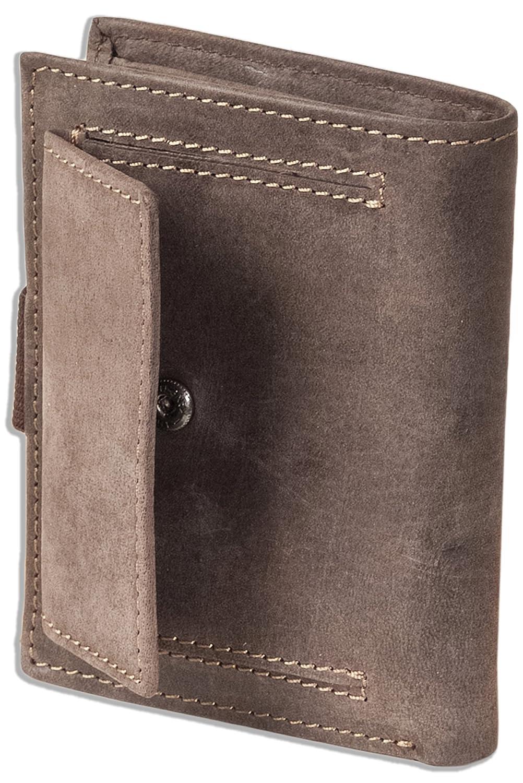 Woodland billetera Super compacto con XXL tarjeteros para tarjetas de cuero de