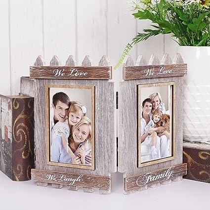 Amazon.com: V&M VALERY MADELYN Folding Distressed Wood 4x6 Family ...