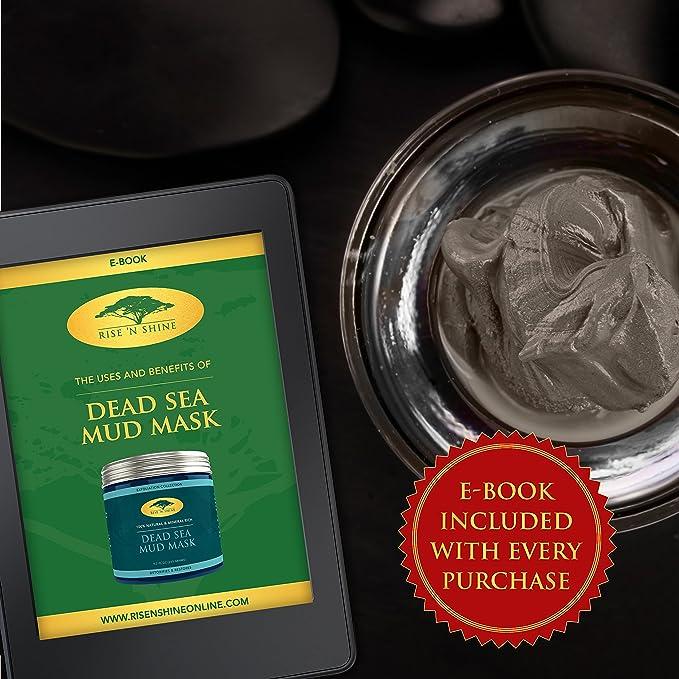 Mascarilla de barro del Mar Muerto para cara y cuerpo, 100% calidad natural de spa, para minimizar poros, limpiar en profundidad, reducir el acné, ...