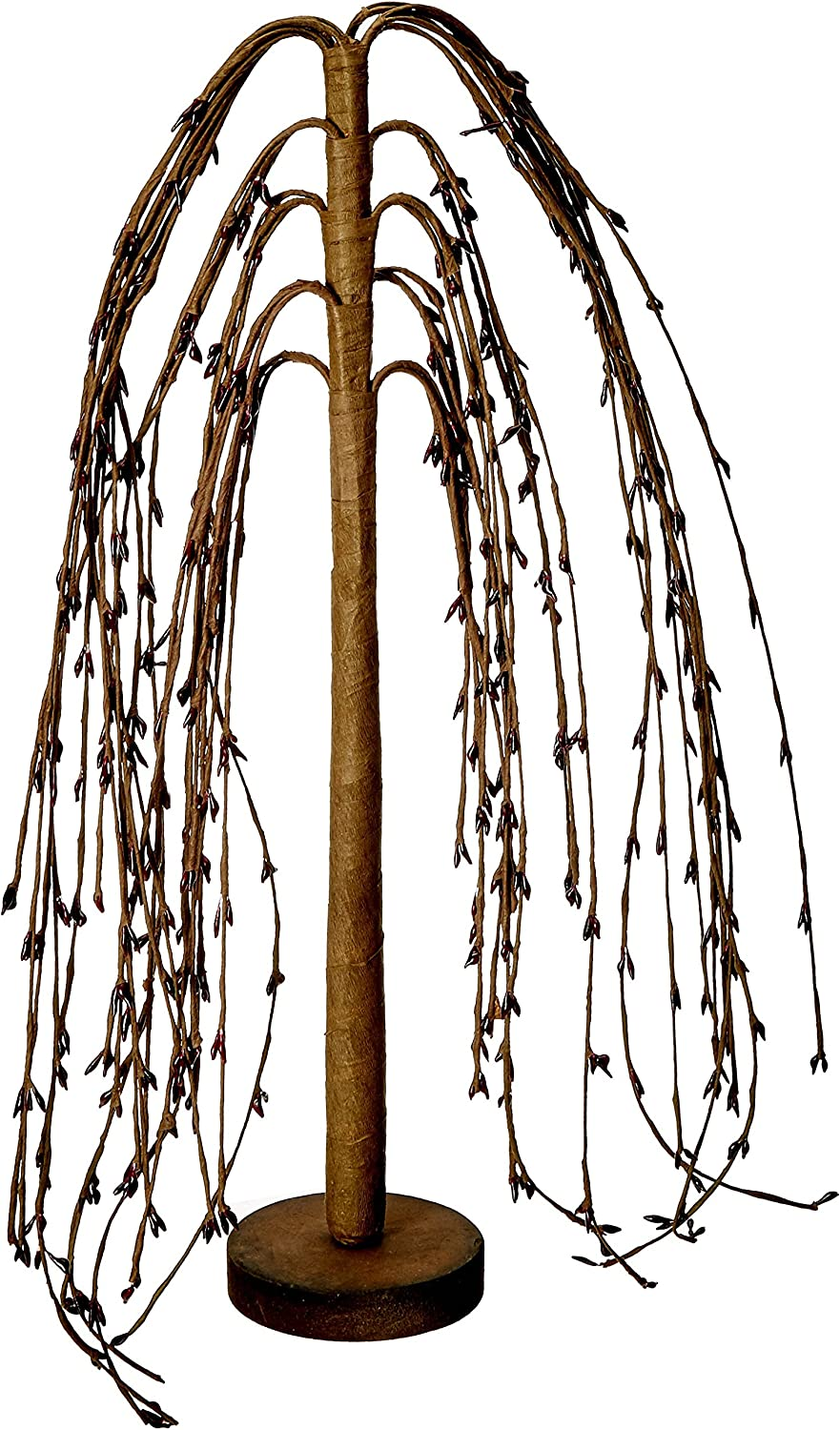 CWI Gifts Weeping Willow Tree, 14-Inch, Burgundy