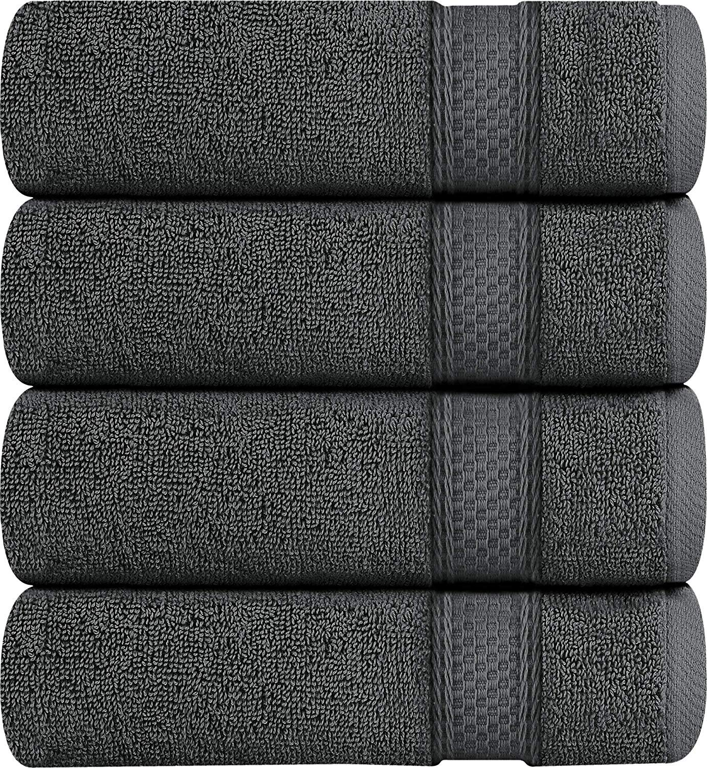 UUtopia Towels Premium Bath Towels, 4 Pack, 700 GSM Towels, Grey