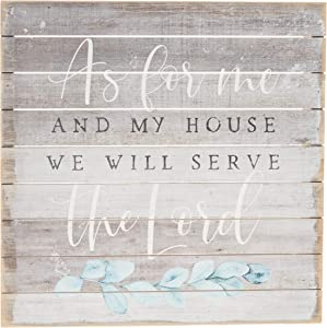 """Simply Said, INC Perfect Pallets 14"""" Wood Sign - As For Me And My House We Will Serve The Lord"""