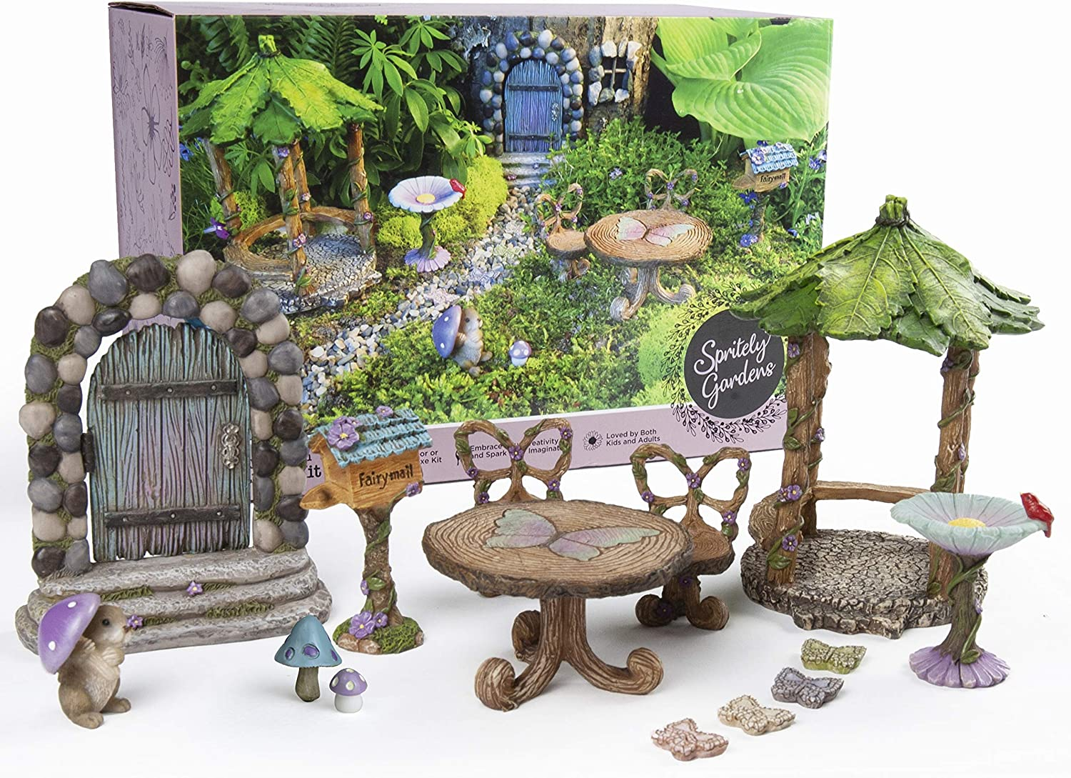 Spritely Gardens Deluxe Fairy Garden Kit with Accessories Indoor