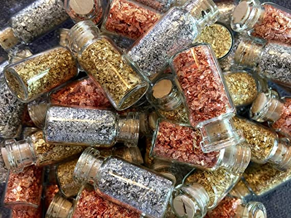 12 Bottles of Real Copper Flakes ...Large .. Lowest price on the Net