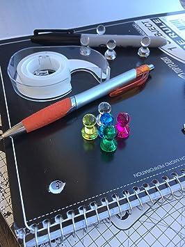 Acrílico Assorted color magnético imán de chinchetas - Set para mapa, calendario, pizarra, lado, archivador, tablero magnético, y otras superficies.
