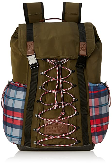 009e0fc7 Tommy Hilfiger Olive Laptop Backpack (TH/HIK16BP): Amazon.in: Bags, Wallets  & Luggage