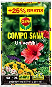 Compo - Substrato Universal Sana 40+10L Grati: Amazon.es: Jardín
