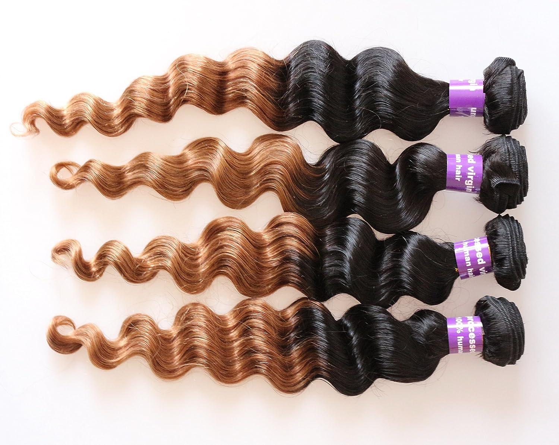 1bt30 Ombre Hair Bundles Weave Malaysian Hair Bundle Deep Wave