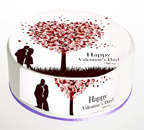 Happy Valentines Day Cake Topper Edible Icing Frosting Sheet Or Rice