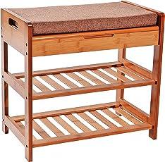 Bamboo Shoe Storage Bench