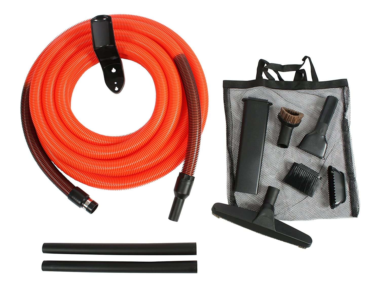 Cen-Tec Systems 93730 Central Vacuum Garage Attachment Kit with 30 ft. Hose, Black