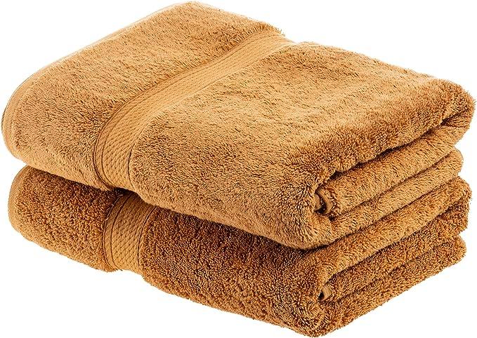Superior 900 G/m² Toallas de baño, Hecho algodón Peinado, Set de 2 ...