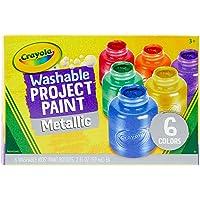Crayola 6 Botes de pintura lavable Metálica