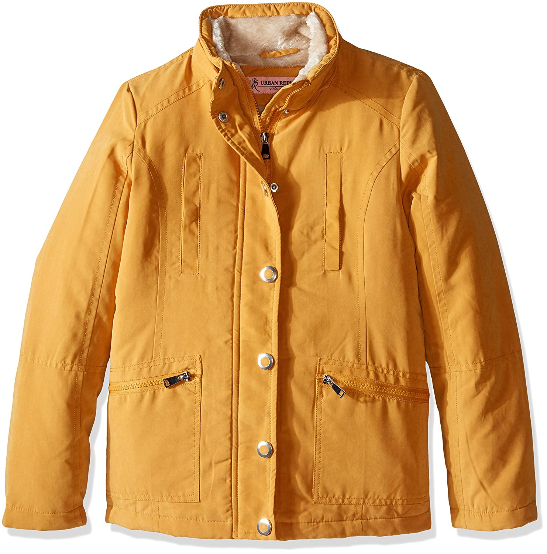5//6 Dijon Yellow Urban Republic Girls Little Microfibre Hooded Jacket