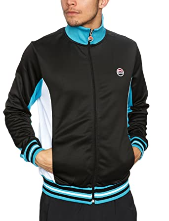 c0de8973857 Slazenger Heritage Blur Track Men's Jacket Black/White/Blue Small ...