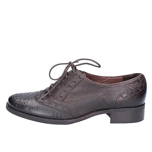 Élégantes Donna 40 Eu Cuir Chaussures Marron Piu' Femme 0Ovn8wymN