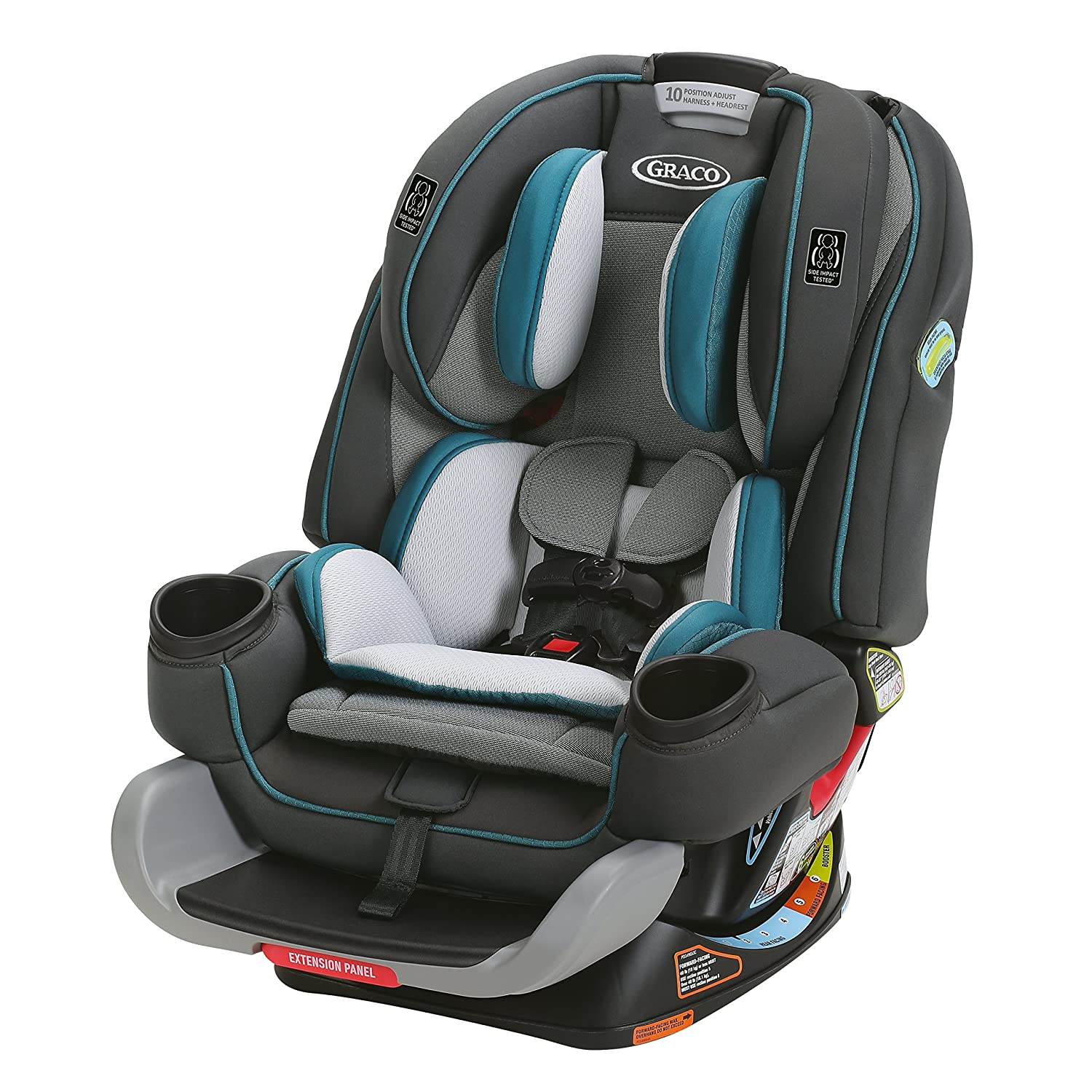Amazon Graco 4Ever Extend2Fit 4 In 1 Car Seat Seaton Kitchen Dining