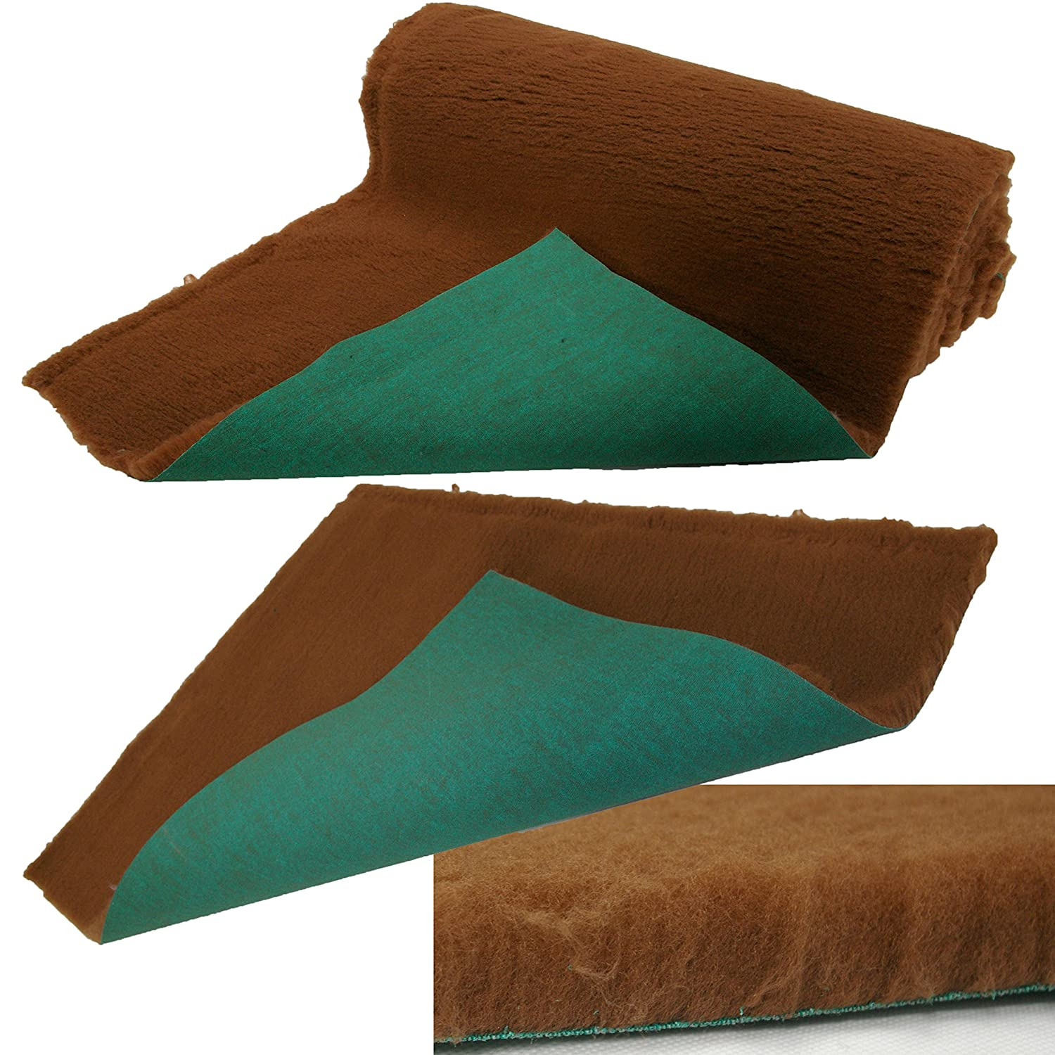 5 Metre x 75cm ROLL SoulPet Traditional Brown High-Grade Vet Bedding 30mm THICK ROLL WHELPING FLEECE DOG PUPPY PRO BED