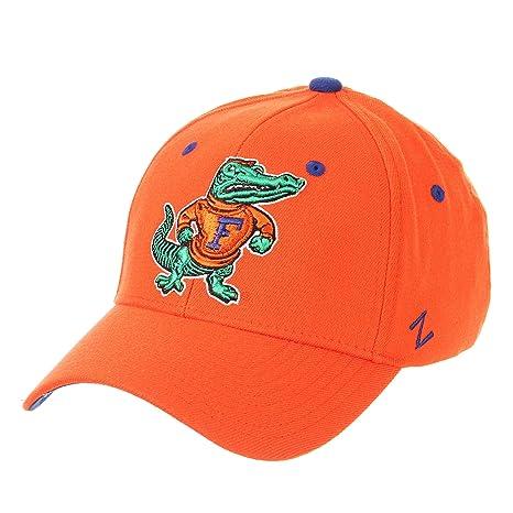 e322ccf40f028 Amazon.com   Zephyr University of Florida Gators UF Orange Vault Vintage  Gator Logo DHS Adult Mens Baseball Fitted Hat Cap Size Medium Large    Sports   ...