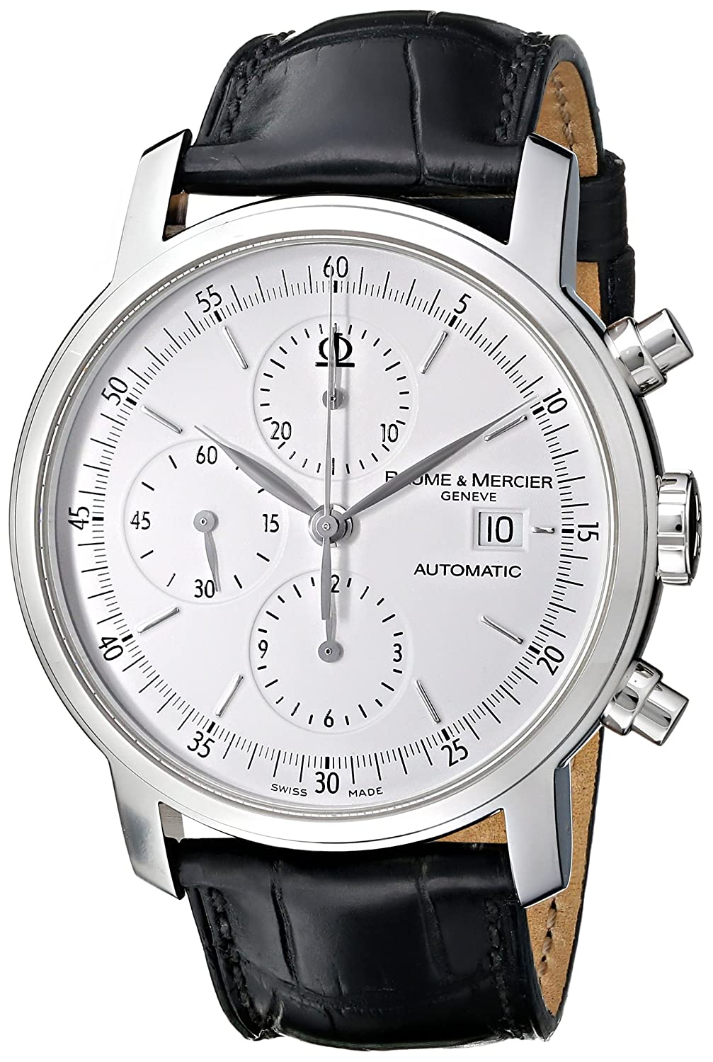 Baume Mercier Men s MOA08591 Classima Executive Stainless Steel Watch with Black Band