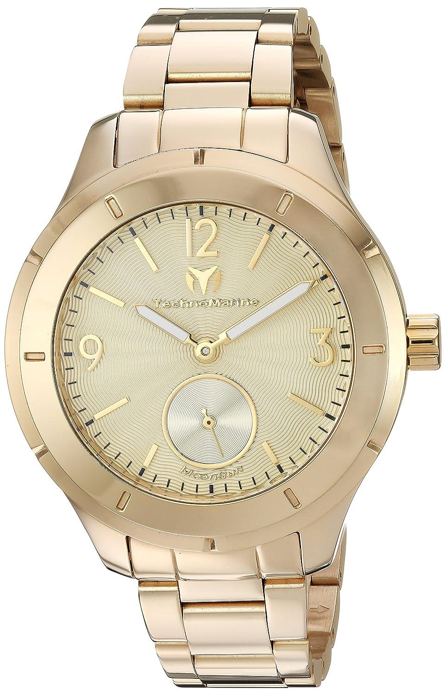 Technomarine Men s MoonSun Quartz Watch with Gold-Tone-Stainless-Steel Strap, 18 Model TM-117030