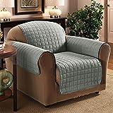 PMS 165 x 190cm Polyester Sessel Sofa Cover Protector Grau