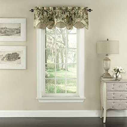Waverly Garden Glory Window Valance, 16u0026quot;x60u0026quot;, ...