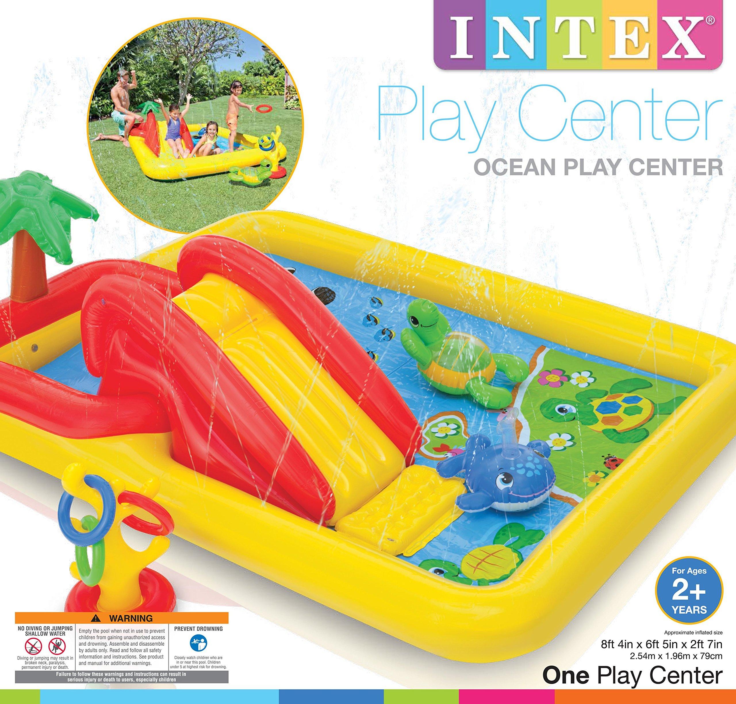 Intex Inflatable Ocean Play Center Kids Backyard Pool (2 Pack) + Air Pump by Intex (Image #9)