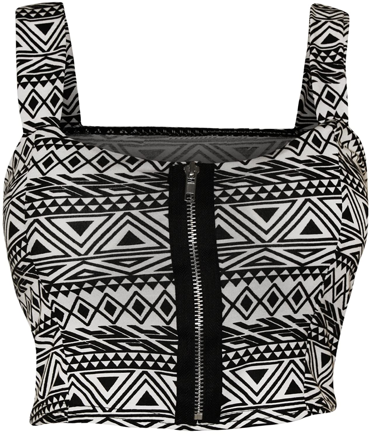 425585e841 WearAll Women s Print Padded Bralet at Amazon Women s Clothing store  Other  Shirts