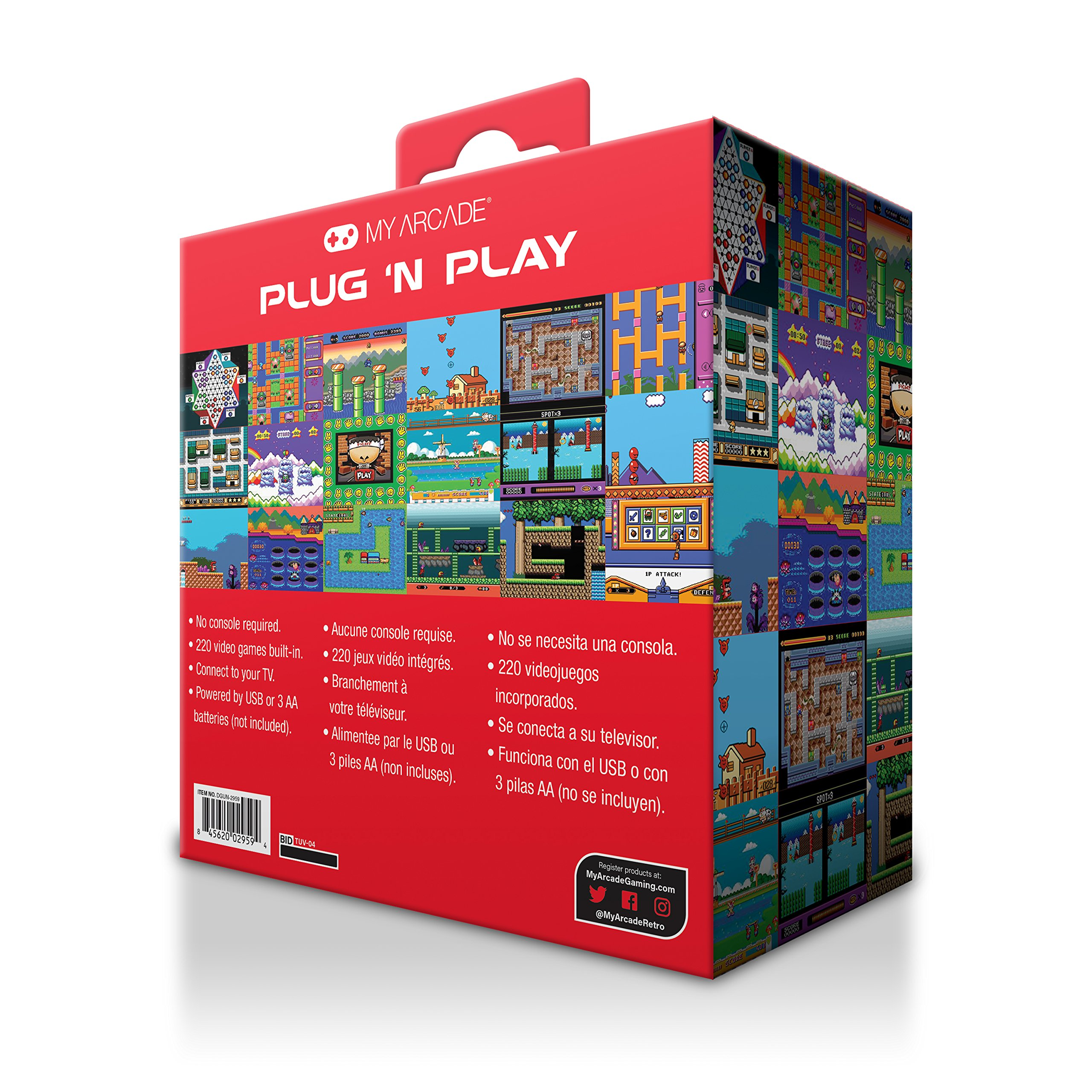 My Arcade - Plug N Play Controller with 220 Built-in Retro Style Games - Electronic Games by My Arcade (Image #4)