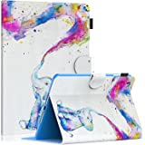 iPad Mini 3/2 / 1 Case, Dteck Super Thin PU Leather Folio Book Cover Design Multi-Angle Stand Protective Smart Cover with Auto Sleep Wake Wallet Case for Apple iPad mini 1 2 3,Colorful Elephant