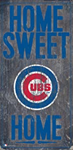 "Fan Creations Chicago Cubs 6"" x 12"" Home Sweet Home Wood Sign"