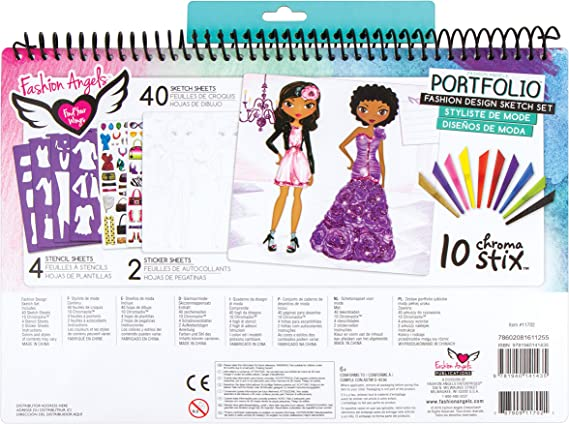 Amazon Com Fashion Angels Fashion Design Sketch Portfolio Artist Set Multi None Toys Games