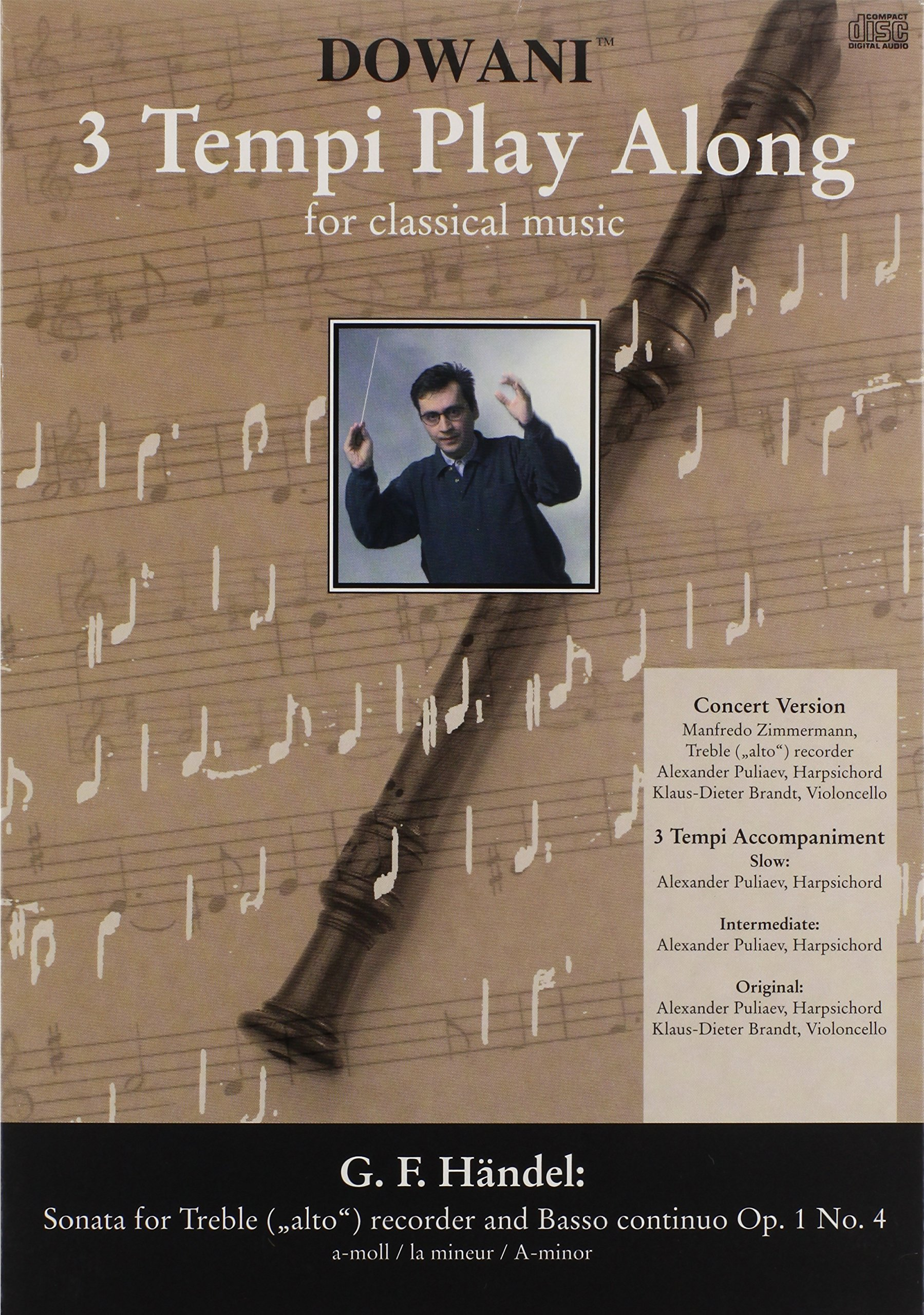 Handel - Sonata in A Minor Op. 1 No. 4 for Treble (Alto) Recorder and Basso Continuo