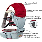 Premium Lightweight Baby Carrier, Perfect for Summer Walks. Detachable Hip Seat Plus Full Pop On Rain Cover. Perfect for Baby. Wide Ergonomic Waist Band for Extra Comfort and Support for the Wearer. Totally Cotton so Soft and Safe for Baby