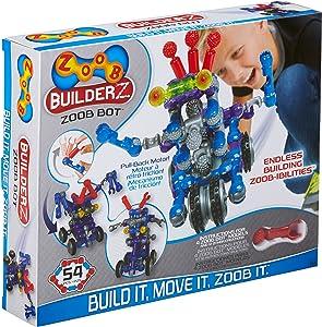 ZOOB BuilderZ ZOOB Bot Moving Building Modeling System, 54 Piece Kids Construction Set
