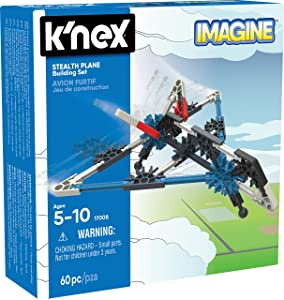 K'NEX - Stealth Plane Building Set60 PiecesFor Ages 5+ Construction Education Toy