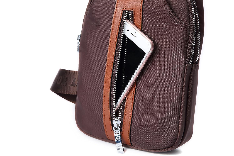 191db58451 AIAIMEI Homme Sac bandoulière Petit Sacoche Cuir Sac épaule Vintage Besace  Messager pour Chest Bag Sport ...