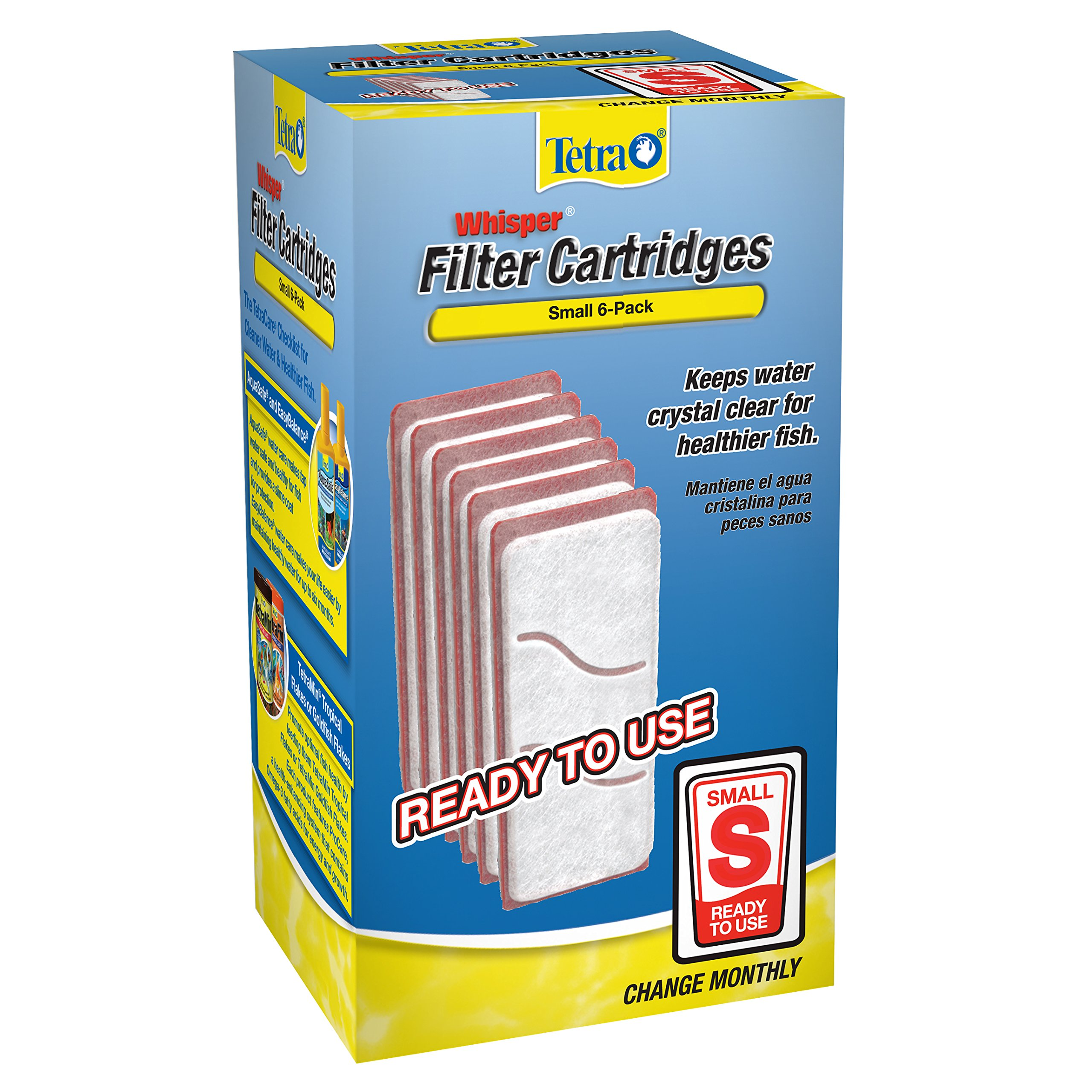 Tetra Whisper Replacement Carbon Filter Cartrides, Small, 6 count