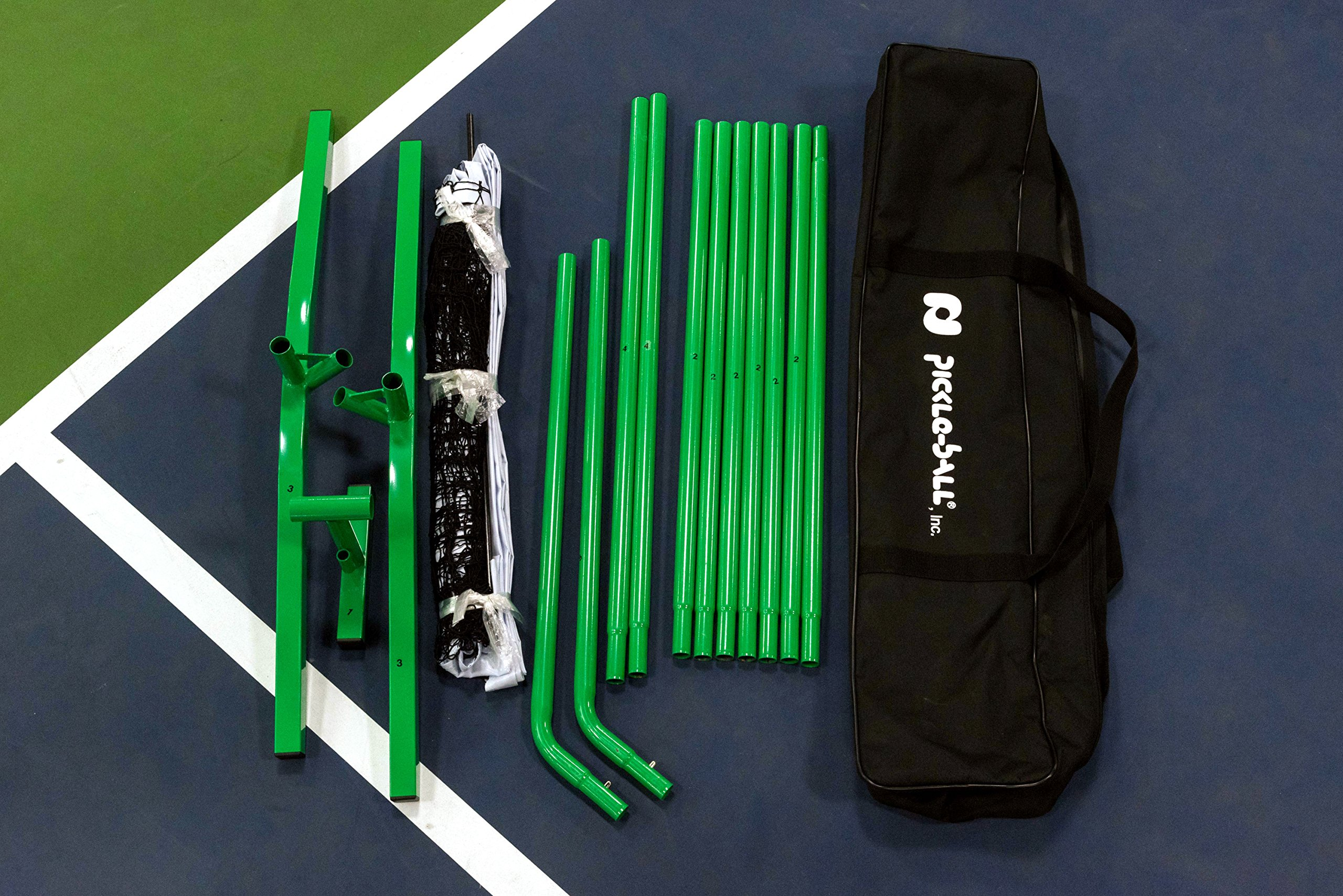 Pickle-Ball, Inc. Pickleball Diller Tournament Net Set (Set Includes Metal Frame + Net + 4 paddles + 4 balls + Rules Sheet in Carry Bag) by Pickle-Ball (Image #7)