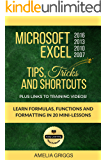 Microsoft Excel 2016 2013 2010 2007 Tips Tricks and Shortcuts: Learn Formulas, Functions and Formatting in 20 Mini-Lessons (Easy Learning Microsoft Office How-To Books)