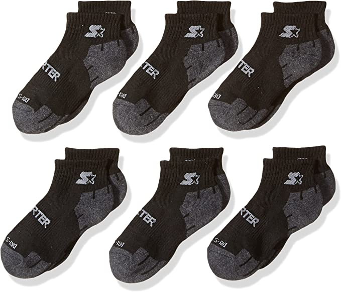 Exclusive STR112158 Starter Boys 6-Pack Quarter-Length Athletic Socks